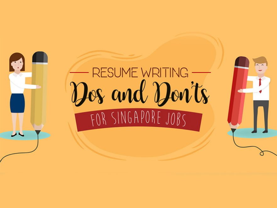 singapore resume writing tips infographic - Jobs That Don T Require A Resume